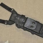 Baldrick Rig w/dangler loops mounted onto a WSK FACS sheath. (Front view).